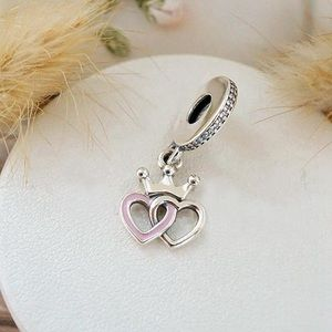 Pandora Entwined Heart with Regal Crown Charm